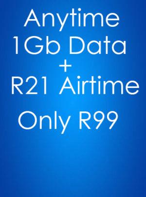 1GB Data + R21 Airtime