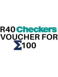 Checkers Voucher – R40